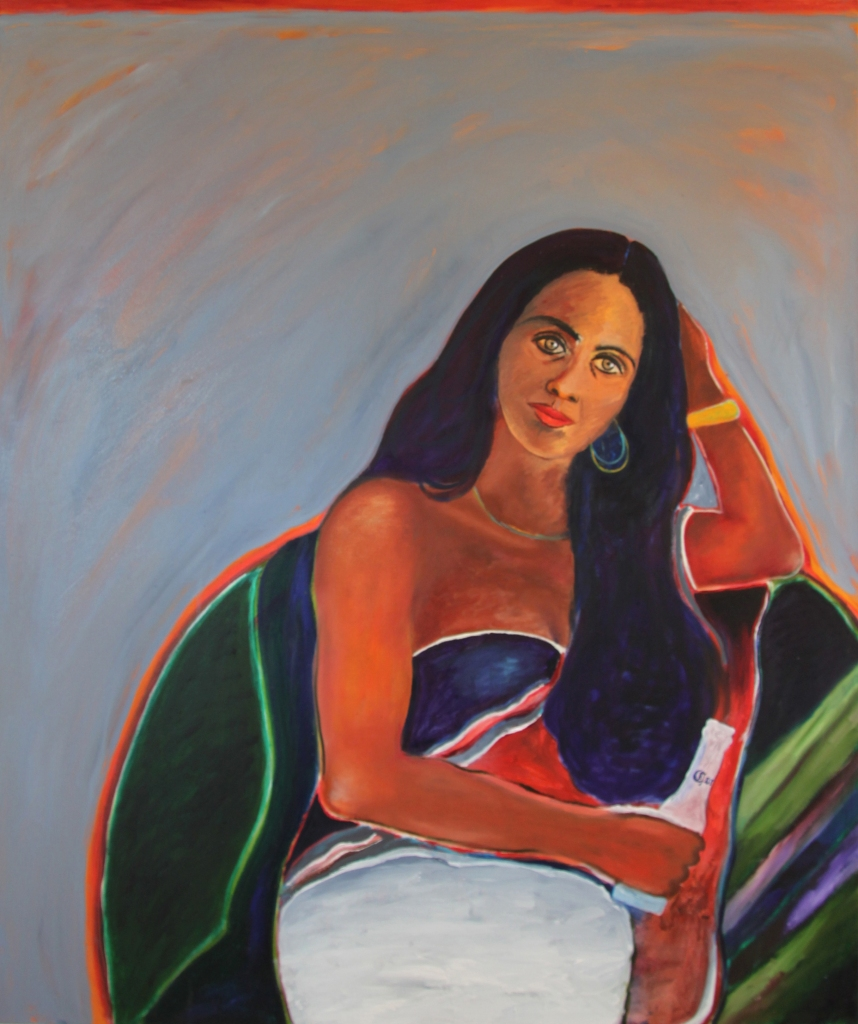 Nancy; oil on canvas; 120cm x 100cm