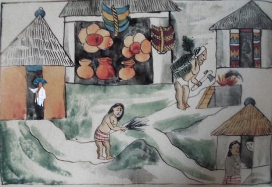 'Codice 1'-mixed media on paper; 40cm x 70cm